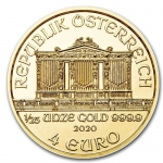 1/25 oz Gold Austrian Philharmonic Brilliant Uncirculated 2020