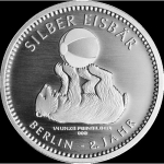 1/4 Oz Silver Polarbear 2018 Berlin Mint in coincard