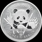 1/4 Oz Silber Panda 2017 Berlin in Kapsel