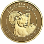 1/4 Unze Gold 2017 Kanada Bighornschaf Reverse Proof
