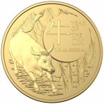 2021 Australia 1/4 oz Gold Lunar Year of the Ox BU (RAM)