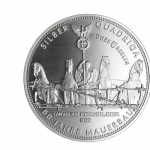 1/4 Oz Silver Germania Quadriga 2021 60 years Fall of...