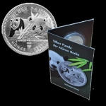 1/8 Oz Silver Panda 2016 Berlin Mint in Coincard