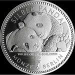 1/8 Oz Silber Panda 2020 Berlin in Blister Coincard