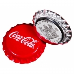 1 $ Dollar Coca Cola Bottle Cap Shaped Fiji Silber Proof...