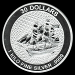 1 Kilo Silber Cook Islands Bounty 2020 - neues Design