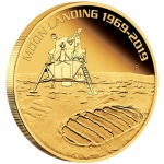 1 Oz Gold Apollo 11 - 50 Jahre Mondlandung High Relief...