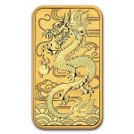 1 Oz Gold Drachen Dragon Rectangular 2018 Australien 1,0...