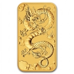 1 Oz Gold Drachen Dragon Rectangular 2019 Australien 1,0...