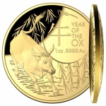 2021  $100  Year of the Ox  Domed (SIII) 1oz Gold Proof...