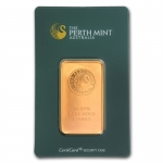 31.1 gram (1 Oz) Perth Mint Gold Bar .9999 Fine (In Assay)