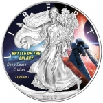 1 Oz Silber Eagle 2017 Deep Space Cruiser - Battle of the Galaxy USA farbig