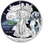 1 Oz Silber Eagle 2017 Deep Space Scout - Battle of the Galaxy USA farbig
