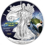 1 Oz Silber Eagle 2017 Planetary Fighter - Battle of the Galaxy USA farbig