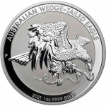 2021 Australien 1 oz Silver Eagle Wedge Tailed Silver Eagle Perth Capsule