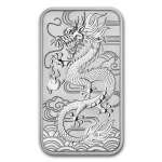 2018 Australia 1 oz Silver Dragon Rectangular BU