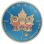 1 oz Silver Canadian Maple Leaf 2019 Family Day Bejeweld...