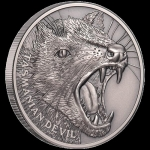 2019 $1 Niue Tasmanian Devil 2019 Ultra High Relief...