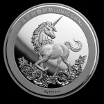 2019 China 1 oz Silver Unicorn 25th Anniversary Restrike...