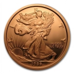 1 Pound Copper Round Walking Liberty Eagle 999,99 AVDP