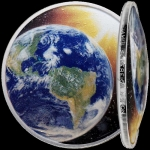 1 USD Silver Solar System (4) - Earth Dom Shaped USA 2020 Proof