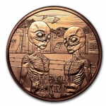 "1 oz Copper  Area 51 ""They\'re Here"" AVDP"