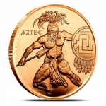 1 Unze Copper Round Aztec Warrior Series 999,99