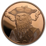1 Unze Copper Round Blackbeard 999,99 AVDP