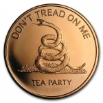 1 oz Copper Round - Don\'t Tread on Me .999