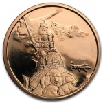 1 Unze Copper Round Frank Frazetta Silver Warrior 999,99...