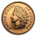 1 Unze Copper Round Indian Head Cent 999,99 AVDP