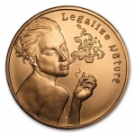 1 oz Copper Round - Legalize Nature .999 AVDP