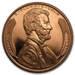 1 Unze Copper Round Lincoln Bust 999,99 AVDP