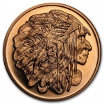 1 Unze Copper Round Medallion Chief  999,99 AVDP