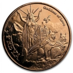 1 oz Copper Round - Norse Gods Freya Goddess of Love...