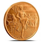 1 Unze Copper Round Prospector Serie Can Can Girl  999,99...