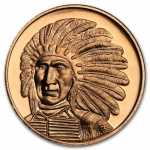 1 oz Copper Round  Red Cloud  .999 AVDP