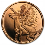 1 oz Copper Round - Red Horse AVDP