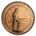 1 oz Copper Round  Second Amendment .999 AVDP