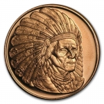 1 oz Copper Round - Sitting Bull .999