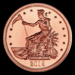 1 oz Copper Round - Zombucks Slayed Dollar .999 AVDP