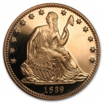 1 oz Copper Round - Seated Liberty .999