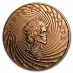 2017 1 oz Copper Shield Round - MiniMintage (Democide)