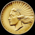 2019 American Liberty High Relief Enhanced Finish 1 Oz...