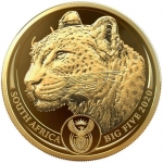 1 oz Gold South African Big Five Leopard 2020 Proof