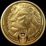 1 Unze Gold Big Five Löwe Südafrika 2019 Proof