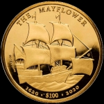 1 Unze Gold British Virgin 400 Jahre Mayflower 2020...