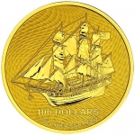 1 oz Gold Cook Islands $100 Bounty .999 Fine 2020 - new Design