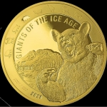 2020 Republic of Ghana 1 oz Gold Giants of the Ice Aget -...