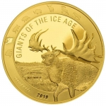 2019 Republic of Ghana 1 oz Gold Giants of the Ice Age -...